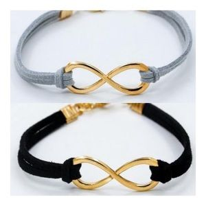 Jewelry - Just in!! Infinity Leather bracelet